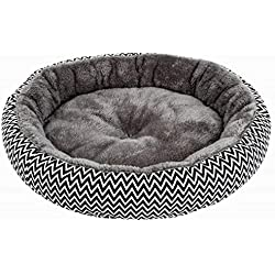New Thick Pet House Round Pet Beds Warm Arctic Velvet Breathable Small Dogs Cats Mat V Pattern Pet Cushion
