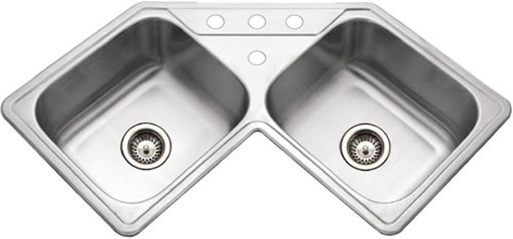 Houzer Lcr 3221 Legend Topmount Corner Bowl Stainless Steel Sink Amazon Ca Tools Home Improvement