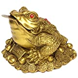 Brass Money Frog/Toad Figurine Statue Handmade Home Ornaments Collectible BS046