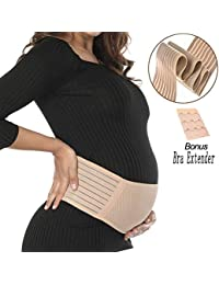 Maternity Belt - Pregnancy Support Belt, Adjustable Belly Band for Prenancy, Breathable Abdominal Binder, Back Support, Beige