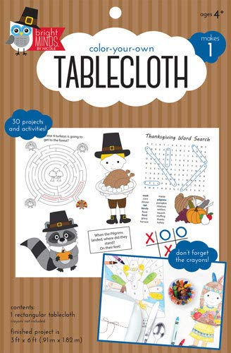 Factory Direct Craft Package of 6 Color Your Own Tablecloth | Doodle Fun | Thanksgiving Activities | Includes 30 Projects