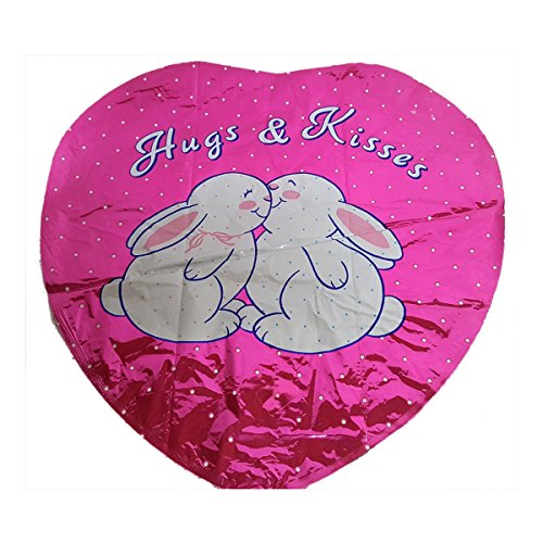 Superloon 1990 Hallmark Hugs & Kisses Valentine's Day Bunnies Mylar Balloon
