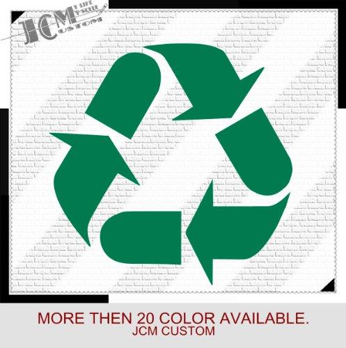 "Recycle Recycling Symbol Vinyl Decal Sticker / 6"" X 6"" (12 Green, Vinyl Type - Permanent - Auto)"