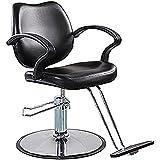 FlagBeauty Black Hydraulic Barber Styling Chair Hair Beauty Salon Equipment