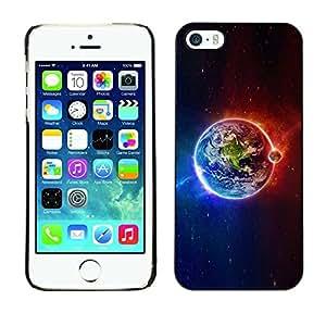 Be Good Phone Accessory // Dura Cáscara cubierta Protectora Caso Carcasa Funda de Protección para Apple Iphone 5 / 5S // Planet Earth Iridescent Magnetic Cosmos
