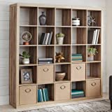 Better Homes and Gardens- 25-Cube Organizer Room Divider (Weathered, 25-Cube)