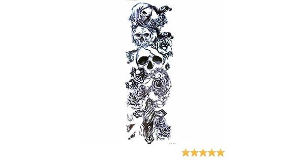 LZC: gran tatuaje temporal (48 cm) de brazo y hombro; unisex, para ...