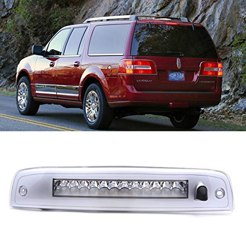 Third Brake Light High Mount Stop Light Rear LED Lamp Compatible 2003-2016 Expedition/Lincoln Navigator (Electroplating Housing Clear LEDs)