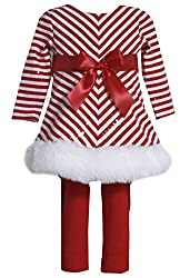Red Christmas Santa Dress Legging Outfit