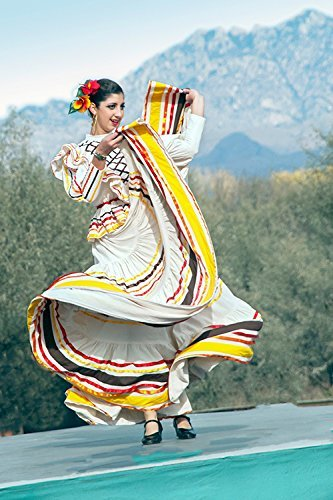 Mexican Folklorico Dancing Photo, Mexican Fiesta Photo, Hispanic Dancing Picture
