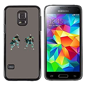 Paccase / SLIM PC / Aliminium Casa Carcasa Funda Case Cover - Robots Art Drawing 3D Figure Gaming Man - Samsung Galaxy S5 Mini, SM-G800, NOT S5 REGULAR!