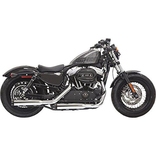 14-19 HARLEY XL883N: Bassani Xhaust Firepower Slip-On Exhaust With Baffles (Black With Black Billet Slash-Cut End Cap)