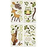 Lambs & Ivy-Lambs And Ivy Enchanted Forest Wall Appliques, Green