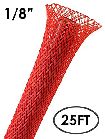 25Ft White 3//4 PET Expandable Braided Sleeving