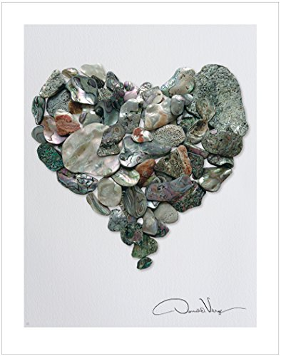 LOVE - Abalone Sea Glass Heart Poster Print. 11x14 Great for Framing. Best Quality Gifts from The Heart Collection. Unique Birthday, Christmas & Valentines Gifts for Women, Men & Kids of All Ages