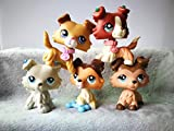 LPSOLD Old LPS Collie Set 363 2452 1542 893 58 Paw Up Dog Puppy Lot with Accessories Lot Collection Toy Figure Girls Boys Gift