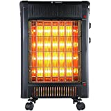 Geek Heat 1500W 2 in 1 Radiant Convection Convector Heater with Thermostat and Wheels