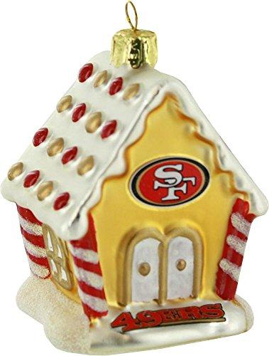 Boelter Brands NFL San Francisco 49ers Gingerbread House Ornament,3.5-Inch,Gold