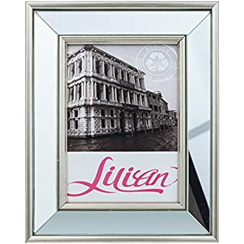 Lilian 5x7 Inch Deskwall Mirrored Picture Frame Choose Ps Polymer Material Environmental Protection