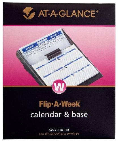 AT-A-GLANCE Flip-A-Week Desk Calendar and Base, 5 x 8 Inches, Black, 2013 (SW700X-00)