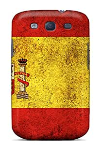 Hard Plastic Galaxy S3 Case Back Cover,hot Dirty Spain Flag Case At Perfect Diy
