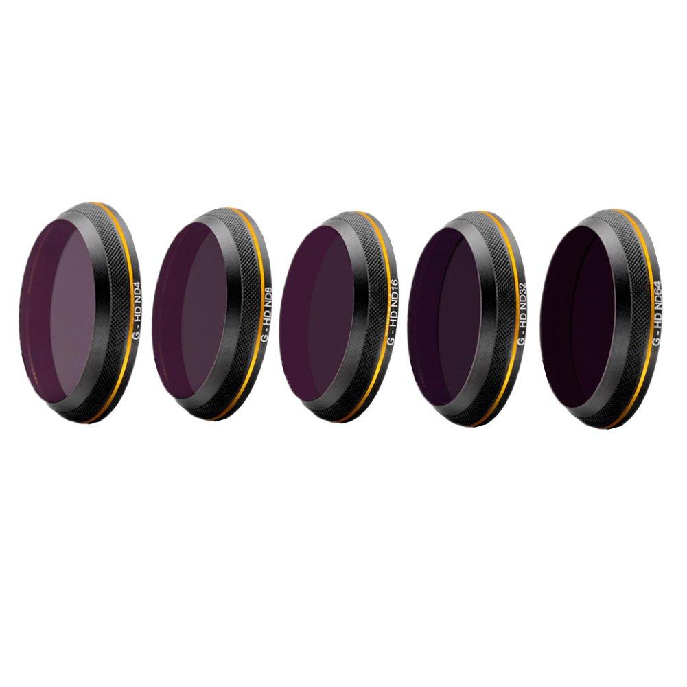 Hzjundasi HD ニュートラル密度 Gimbalカメラ濾過器レンズ プロテクターレンズ Set ND4/8/16/32/64 for DJI Inspire 2 Drone B0722HJT12 ND4/8/16/32/64 Set