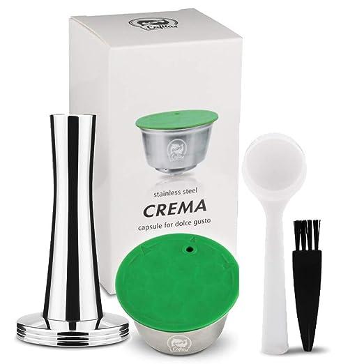 1 cepillo 1 cuchara DEBEME C/ápsula reutilizable para c/ápsulas recargables de acero inoxidable Nespresso Pods Taza de filtro de caf/é