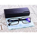 Blue Light Blocking Glasses by Bukos -- Unisex - FDA Approved - Sleep Better - Reduce eyestrain - LED Grow Light protection - Computer Glasses - Gaming - Melatonin