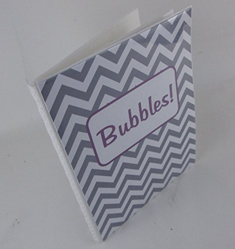Personalized Photo Album . Purple and Gray Chevron. 204GP.baby album. 4x6 or 5x7- boy or girl