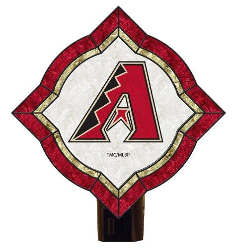 MLB Arizona Diamondbacks Vintage Art Glass Nightlight (Arizona Diamondbacks Art Glass)