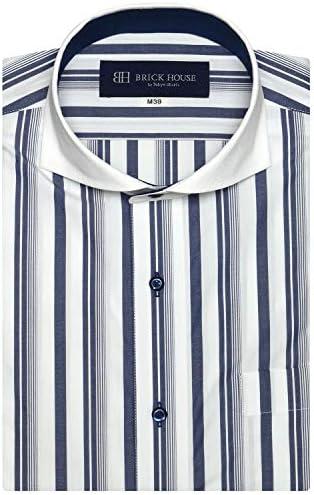 ブリックハウス ワイシャツ 半袖 形態安定 ホリゾンタル ワイド Just Style メンズ BM010600AB46Z1A-14