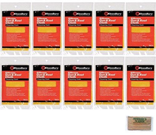 Nimrod's Wares Kleen-Bore Silicone Gun & Reel Cloth 10-Pack 100 sq.in.! GC220 Microfiber Cloth ()