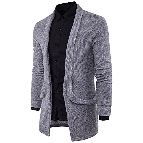 Red Designs Pea Sweet (Coat For Men,Clearance Sale-Farjing Mens' Slim Fit Hooded knit Sweater Fashion Solid Long Trench Coat Jacket (2XL,Gray))