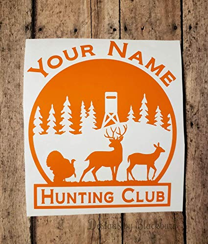Hunting Club/Hunt Club Decal Personalized Buck Doe Turkey and Shooting House