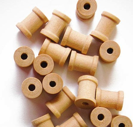 100 Unfinished Wood Spools 5/8 x 1/2 Inches, Made in the USA, by My Craft - Mini Spool Wooden