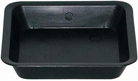 Black Square Plate Plant saucer for Square Pots 18,9x18,9cm