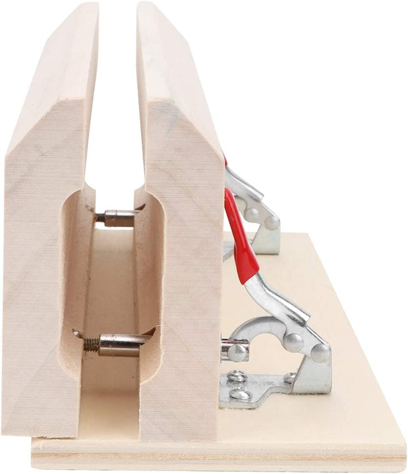 Bricolaje profesional cosido a mano de madera Leathercraft abrazadera de escritorio de cuero de cuero herramienta de clip de costura para el trabajo de cuero