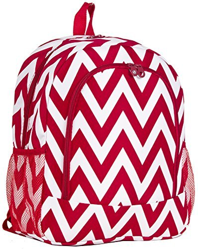 Ever Moda Red Chevron Backpack School Bags