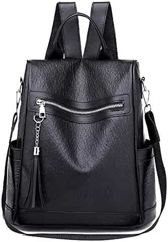 Women Backpack Casual Soft Leather Wild Simple Backpack Anti-theft Bag 3555e1b403466