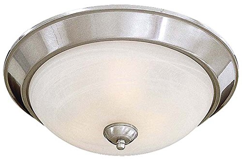 Minka Lavery Flush Mount Ceiling Light 893-84-PL Glass Fixture, 3 Light, 39 Watts Fluorescent, Nickel