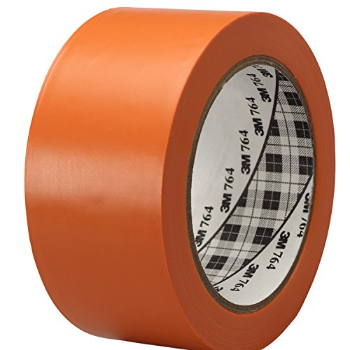 3M General Purpose Vinyl Tape 764 Orange, 2 in x 36 yd 5.0 mil (Pack of 1)]()