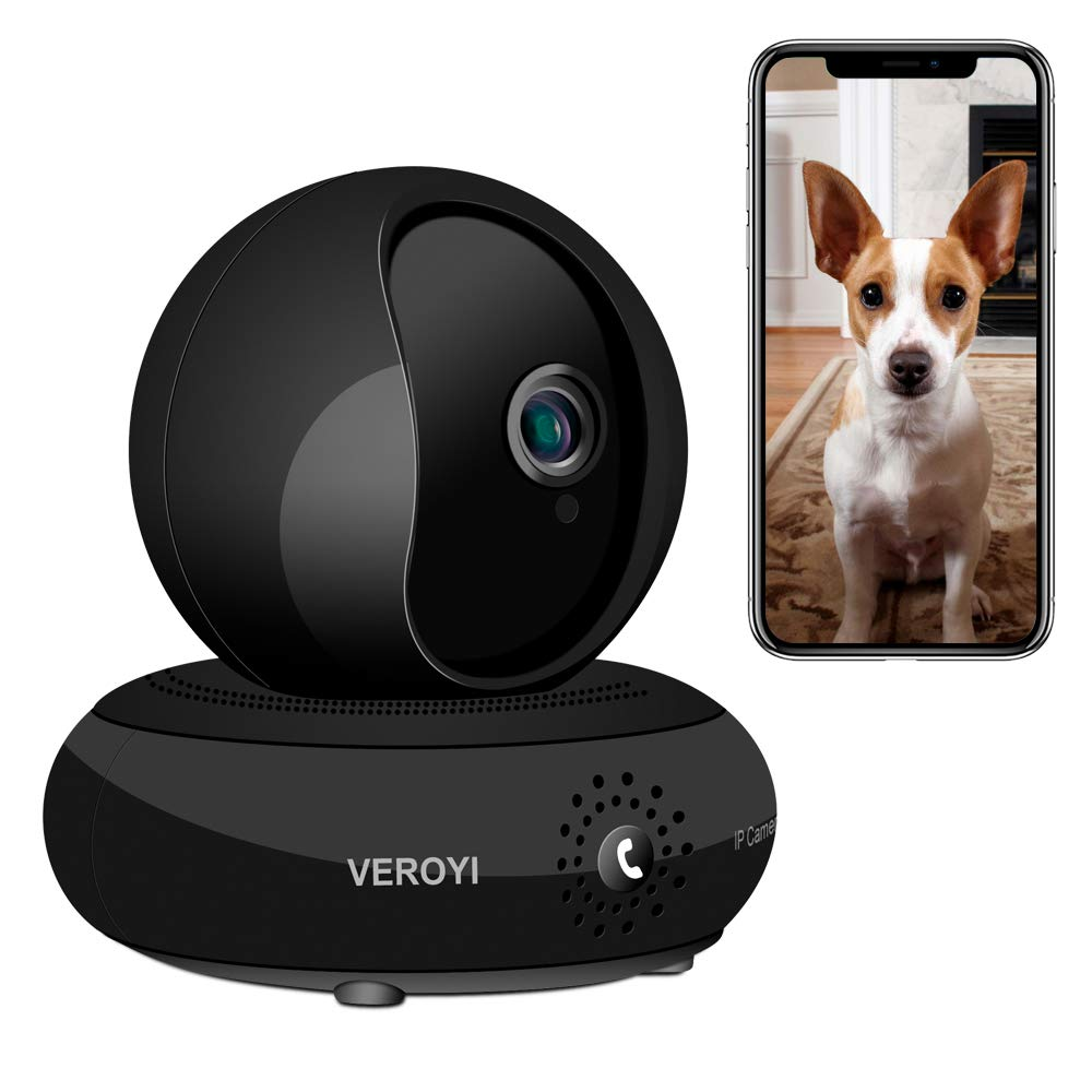 Veroyi Full HD 1080P IP Camera, DM-01 Wireless WiFi Home Security Surveillance Camera, 120° Wide Angle, Two Way Audio Reverse Call, Night Vision Dome Camera