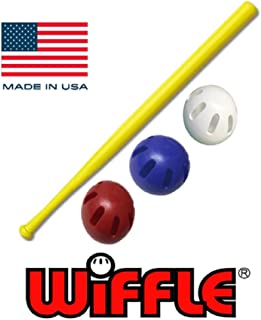 "product image for WIFFLE Ball U.S.A Set - 32"" Bat with Red, White, and Blue Official Balls - 4 Pack"