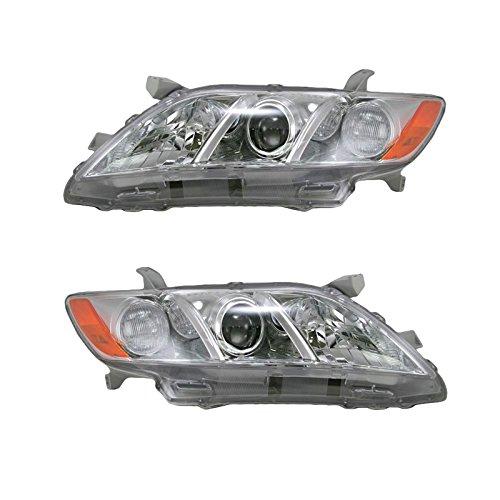 New Left Headlamp Headlight (Headlights Headlamps Left & Right Pair Set for 07-09 Toyota Camry US Models)