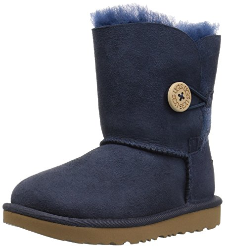 UGG Girls T Bailey Button II Pull-On Boot, Navy, 12 M US Little Kid by UGG (Image #1)