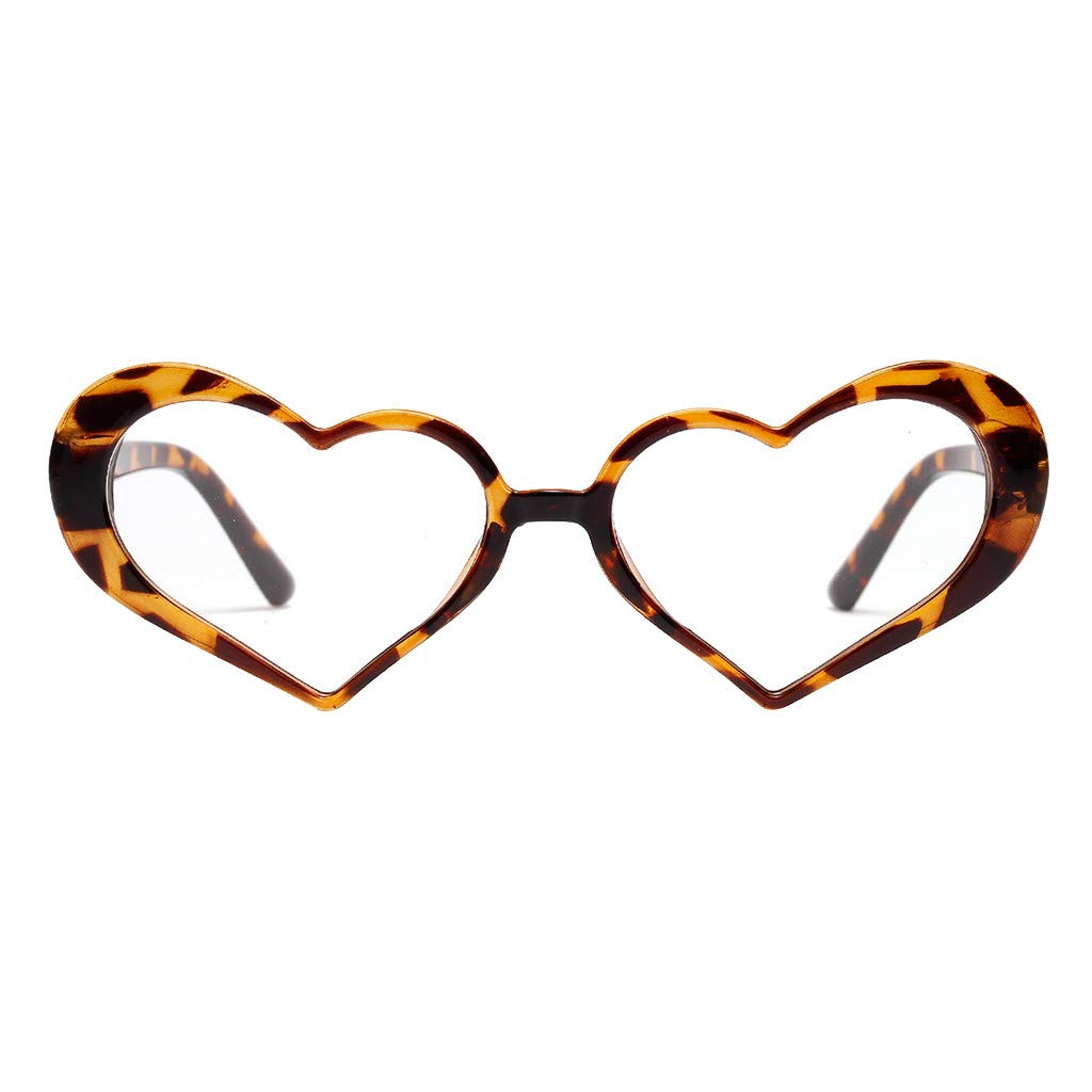Molyveva Heart Shaped Neon Color Sunglasses for Party Supplies 100% UV Protection