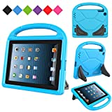 MENZO Kids Case for iPad 2 3 4, Light Weight Shockproof Handle Stand Kids Friendly Case for iPad 2, iPad 3rd Generation, iPad 4th Generation Tablet, Blue