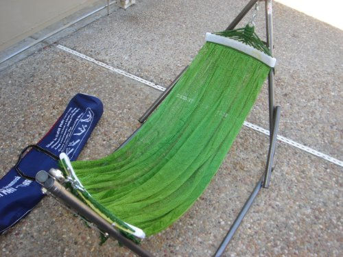 Indoor/outdoor BAN MAI Baby Hammock Swing Bed with Adjustable Medium Duty Metal Frame and a Free Hand Carry - Ban Email
