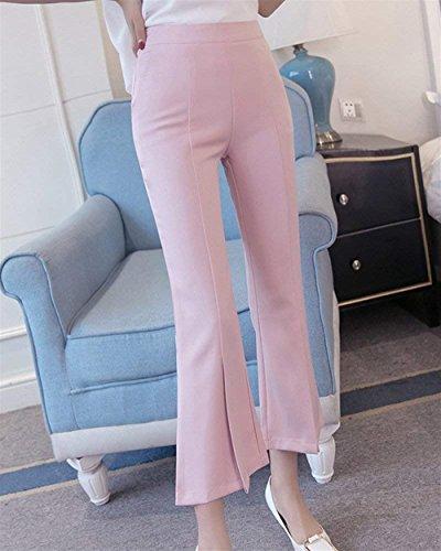 Fashion Pantaloni Tempo Waist Glockenhose High Eleganti Libero Targogo Per Pink nbsp; Accogliente Damigella Pants Monocromo Colpo Estivi Bello Donna Skinny Lunghi y5ccIqT