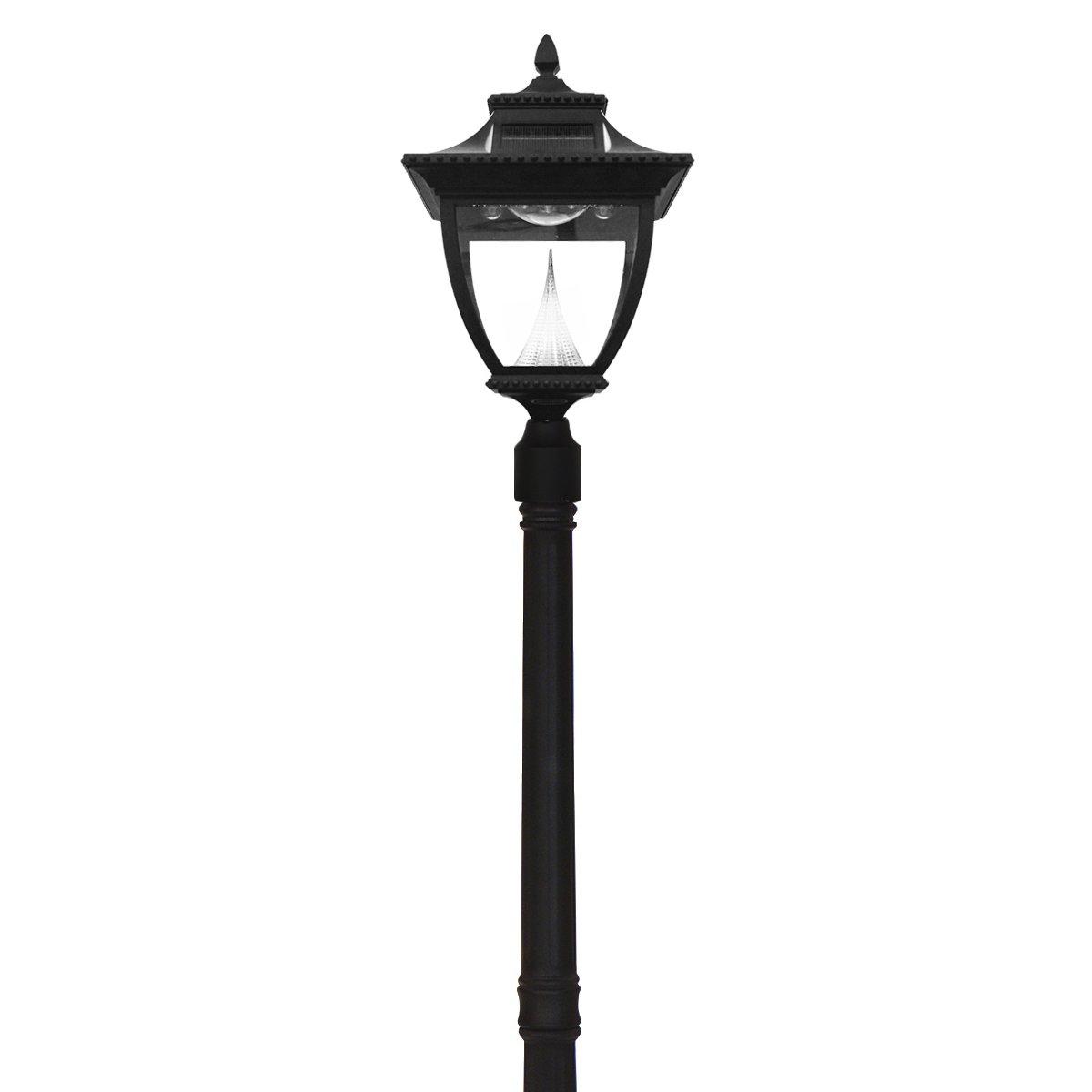 amazoncom gama sonic gs 104s pagoda lamp post outdoor solar light